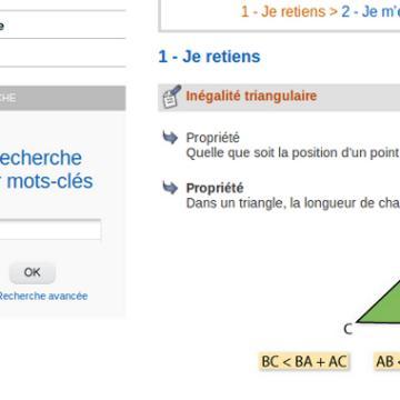 Le résumé du cours, un triangle, puis des questions…