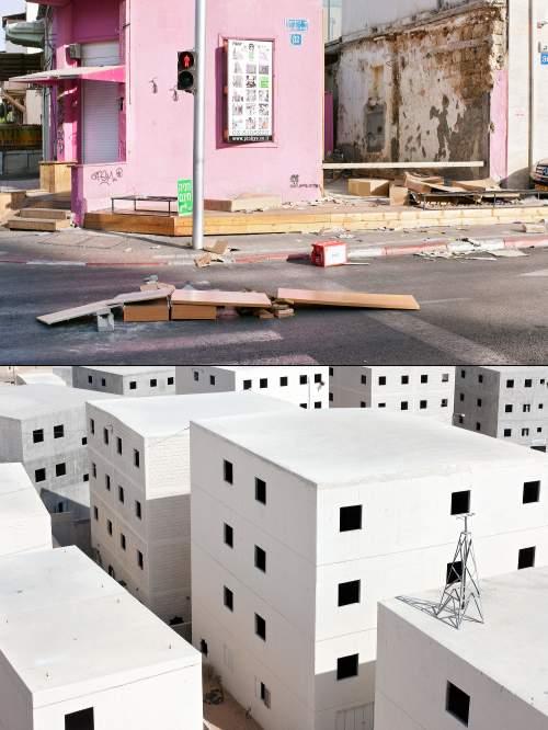 Des quartiers sans vie, jonchés de déchets.